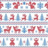 Fundo feito malha do Natal ilustração royalty free