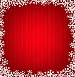 Fundo feito malha vermelho do Natal com flocos de neve ilustração stock