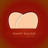 Fundo feliz bege vermelho de Easter ilustração royalty free