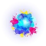 Fundo feliz colorido abstrato de Holi Projeto para o festival indiano das cores Fotografia de Stock Royalty Free