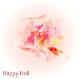 Fundo feliz colorido abstrato de Holi Projeto para o festival indiano das cores Foto de Stock