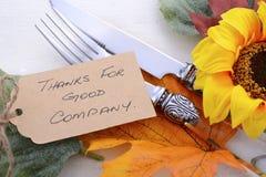 Fundo feliz da ação de graças com beiras decoradas Foto de Stock Royalty Free