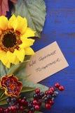 Fundo feliz da ação de graças com beiras decoradas Fotografia de Stock Royalty Free