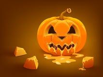 Fundo feliz da abóbora de Halloween Fotos de Stock