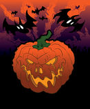 Fundo feliz da abóbora de Halloween Imagem de Stock