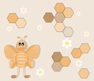 Fundo feliz da abelha dos desenhos animados Ilustração do Vetor