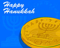 Fundo feliz da celebração do festival do Hanukkah Fotos de Stock