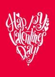 Fundo feliz da rotulação do dia de Valentins Fotografia de Stock