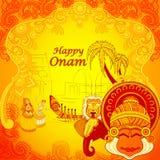 Fundo feliz de Onam no estilo indiano da arte Imagens de Stock