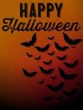 Fundo feliz do ícone do bastão de Dia das Bruxas Ghost Fotografia de Stock Royalty Free