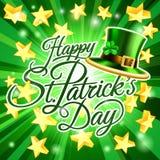 Fundo feliz do chapéu do duende do dia do St Patricks ilustração stock