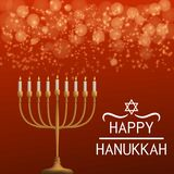 Fundo feliz do conceito de hanukkah, estilo realístico ilustração royalty free