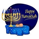 Fundo feliz do cumprimento do feriado de Israel do Hanukkah ilustração stock