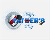 Fundo feliz do dia de pai com texto 3d Fotos de Stock