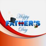 Fundo feliz do dia de pai com texto 3d Imagens de Stock