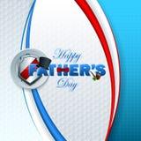 Fundo feliz do dia de pai com texto 3d Fotografia de Stock
