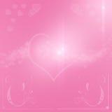 Fundo feliz do dia de são valentim com corações Fotografia de Stock Royalty Free