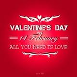 Fundo feliz do dia de Valentim. Imagens de Stock Royalty Free