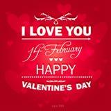 Fundo feliz do dia de Valentim. Fotografia de Stock