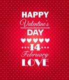 Fundo feliz do dia de Valentim. Fotos de Stock