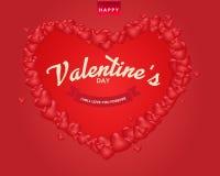 Fundo feliz do dia do ` s do Valentim, projeto da ilustração do vetor Fotos de Stock Royalty Free