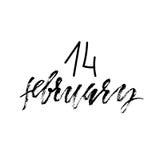 Fundo feliz do dia dos Valentim 14 de fevereiro rotulando Ilustração do vetor Fotos de Stock