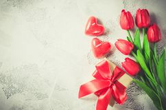 Fundo feliz do dia do ` s do Valentim ano novo feliz 2007 Foto de Stock Royalty Free