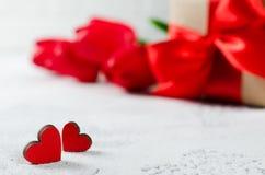 Fundo feliz do dia do ` s do Valentim ano novo feliz 2007 Fotos de Stock