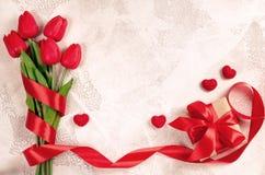 Fundo feliz do dia do ` s do Valentim ano novo feliz 2007 Foto de Stock