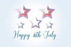 Fundo feliz do logotipo do Dia da Independência ilustração royalty free