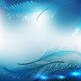 Fundo festivo abstrato azul do vetor Foto de Stock