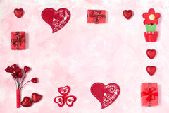 Fundo festivo ao dia de Valentim Fotografia de Stock Royalty Free
