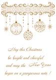 Fundo festivo bonito a propósito do Feliz Natal do feriado ilustração stock