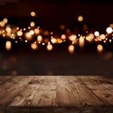 Fundo festivo com efeitos da luz para o Natal Foto de Stock Royalty Free
