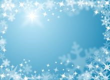Fundo festivo da neve e do gelo Imagens de Stock