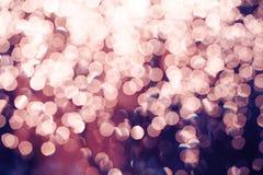 Fundo festivo das luzes de Natal do brilho defo da luz e do ouro Fotografia de Stock Royalty Free
