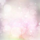 Fundo festivo de Lylac com luz Fotos de Stock Royalty Free