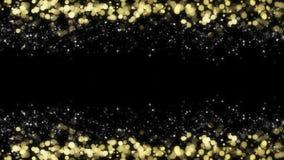 Fundo festivo do bokeh e de estrelas coloridos em um fundo preto foto de stock