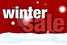 Fundo festivo do cenário da venda do inverno da neve Foto de Stock