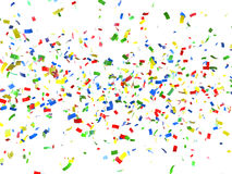 Fundo festivo do confetti Fotografia de Stock Royalty Free