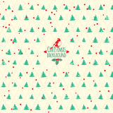 Fundo festivo do Feliz Natal. Árvore de Natal do vetor Fotos de Stock