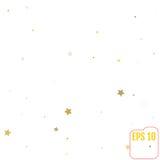 Fundo festivo do feriado da chuva dos confetes da estrela do ouro Golde do vetor Fotos de Stock Royalty Free