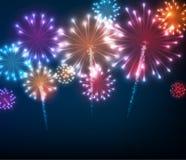 Fundo festivo do fogo de artifício da cor Foto de Stock