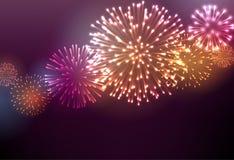 Fundo festivo do fogo de artifício da cor Imagens de Stock Royalty Free