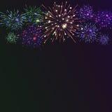 Fundo festivo do fogo de artifício da cor Fotos de Stock