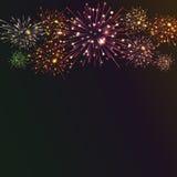 Fundo festivo do fogo de artifício da cor Foto de Stock Royalty Free