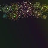 Fundo festivo do fogo de artifício da cor Fotografia de Stock