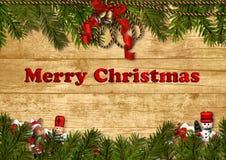 Fundo festivo do Natal com decora??es Imagens de Stock