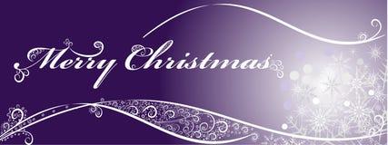 Fundo festivo do Natal com flocos de neve ilustração stock