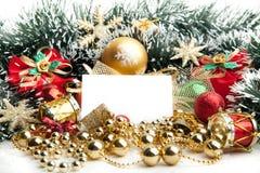 Fundo festivo do Natal decoration.card imagem de stock